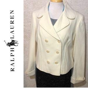 NWT RALPH LAUREN Moreno Wool Crop Pea Coat